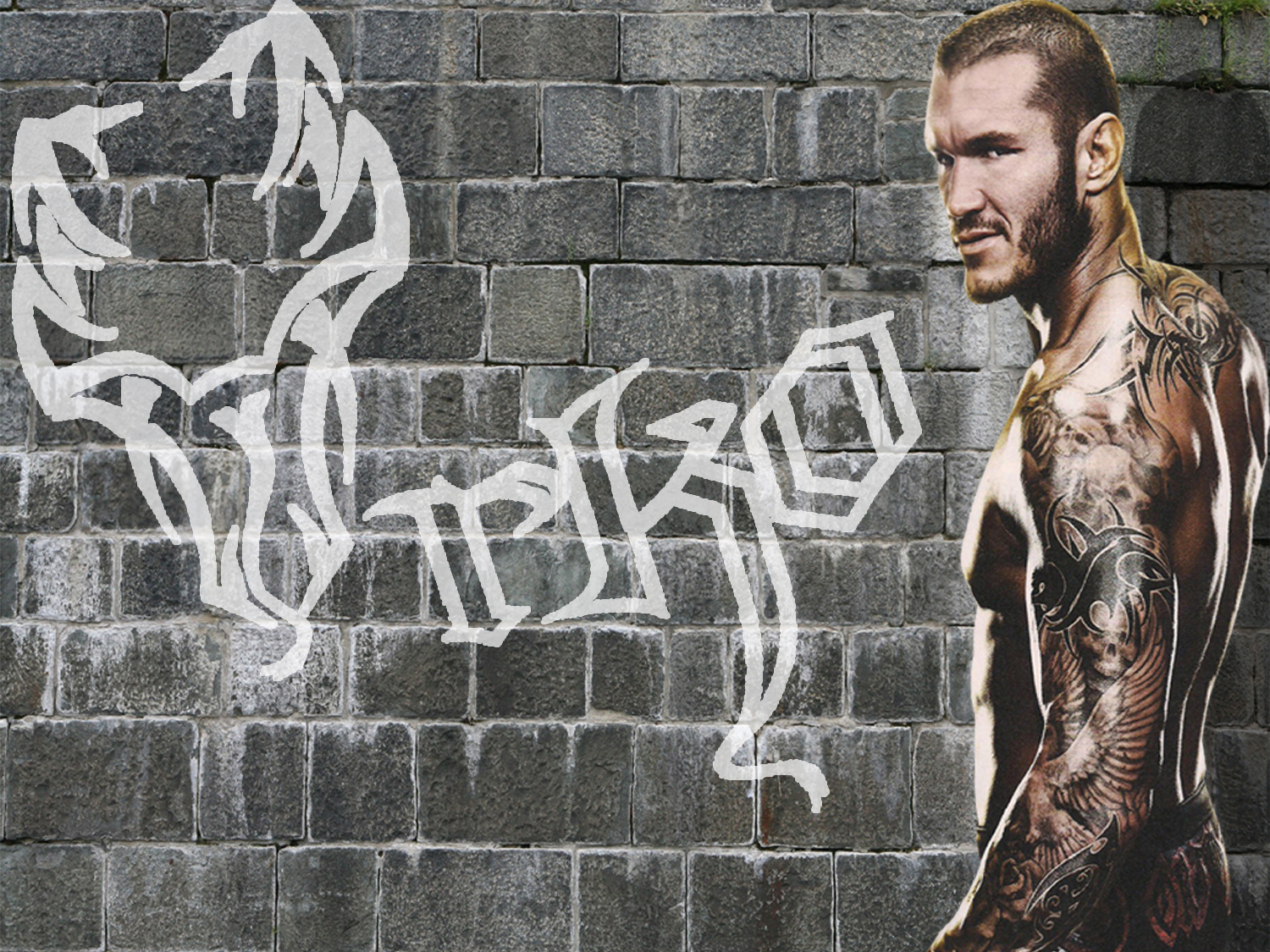 Graphic Break Randy Orton Paint Wallpaper