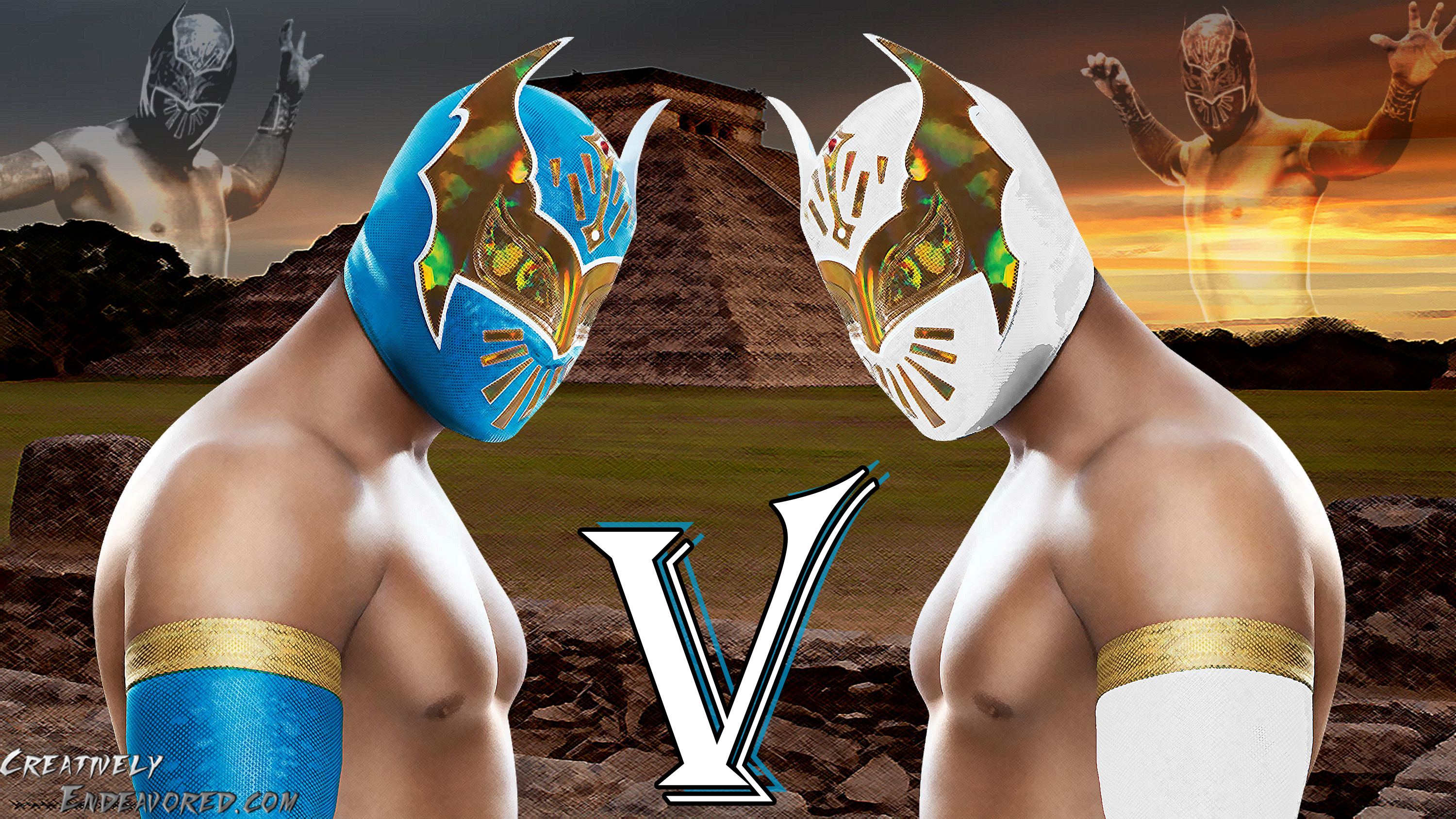 Graphic Break Sin Cara V Wallpaper