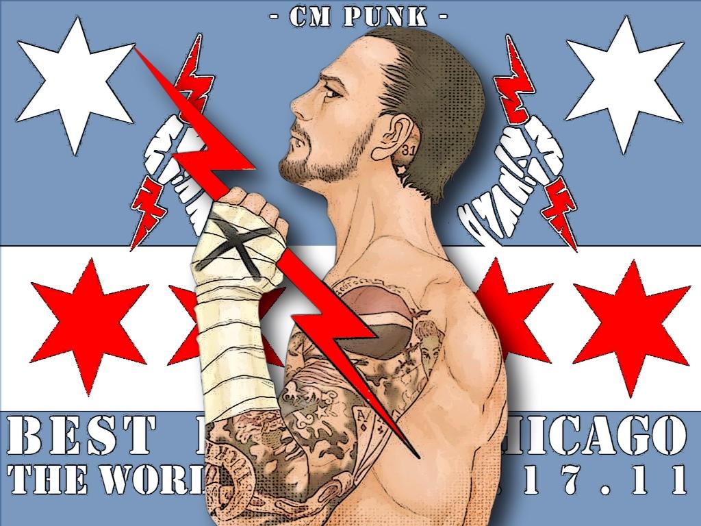 Graphic Break Cm Punk Revolution Wallpaper Hittin The