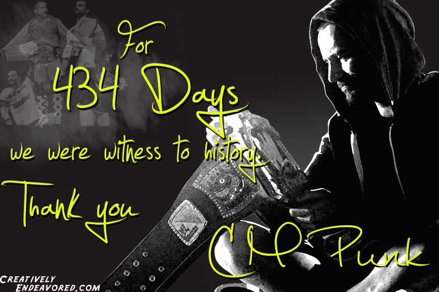 CM Punk '434' Wallpaper