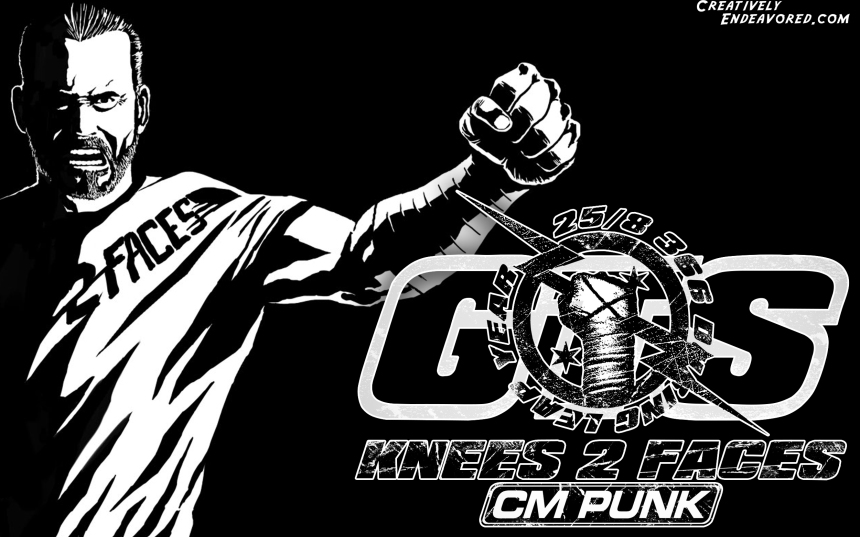 CM Punk 'It's Clobberin' Time' Wallpaper