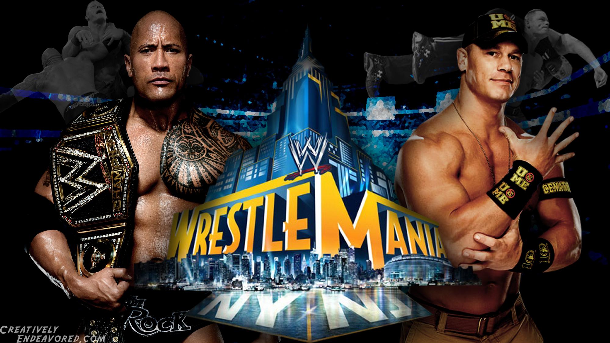 Wrestlemania Wallpaper Wednesday The Rock Vs John Cena For The Wwe