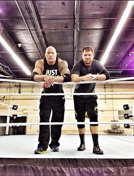 Curtis Axel and The Rock