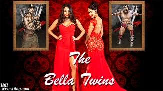 The Bella Twins - Red Carpet Wallpaper