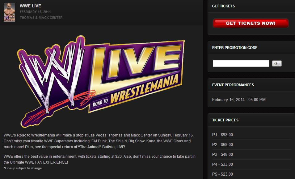 Batista on WWE Live Poster 2