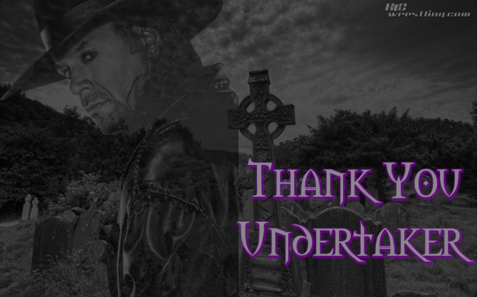 Thank You Undertaker Wallpaper