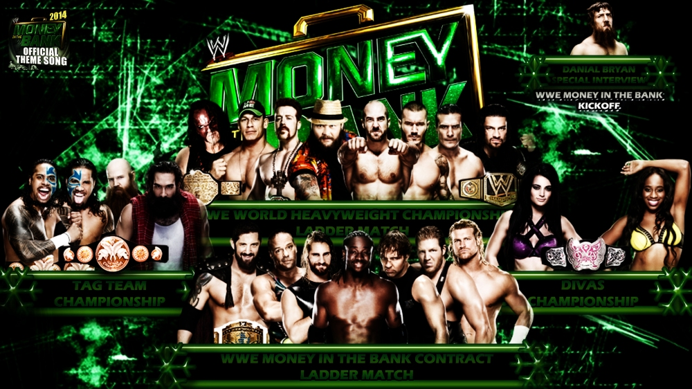 Money In The Bank 2014 Match Card
