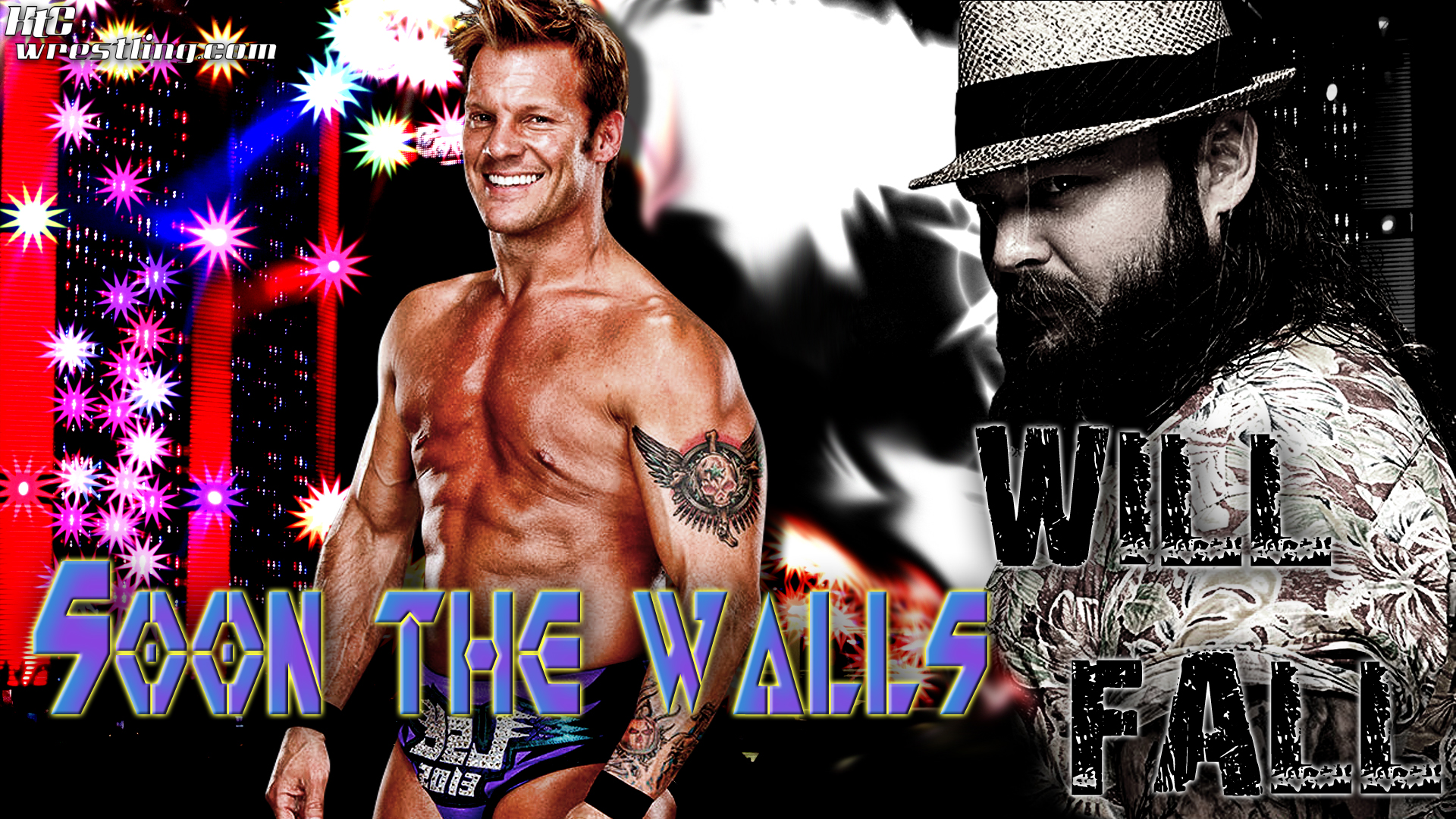 Chris Jericho vs Bray Wyatt - The Walls Will Fall Wallpaper