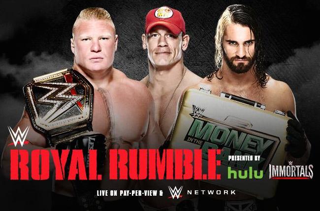 Royal Rumble 2015 - Lesnar vs Cena vs Rollins