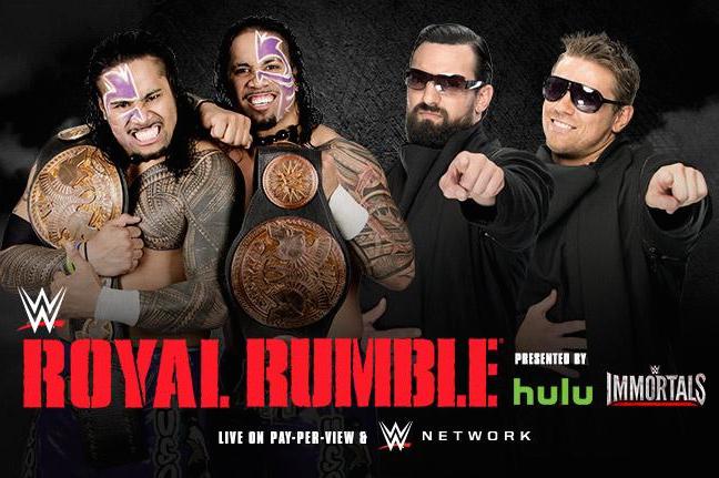 Royal Rumble 2015 - Usos vs MizDow
