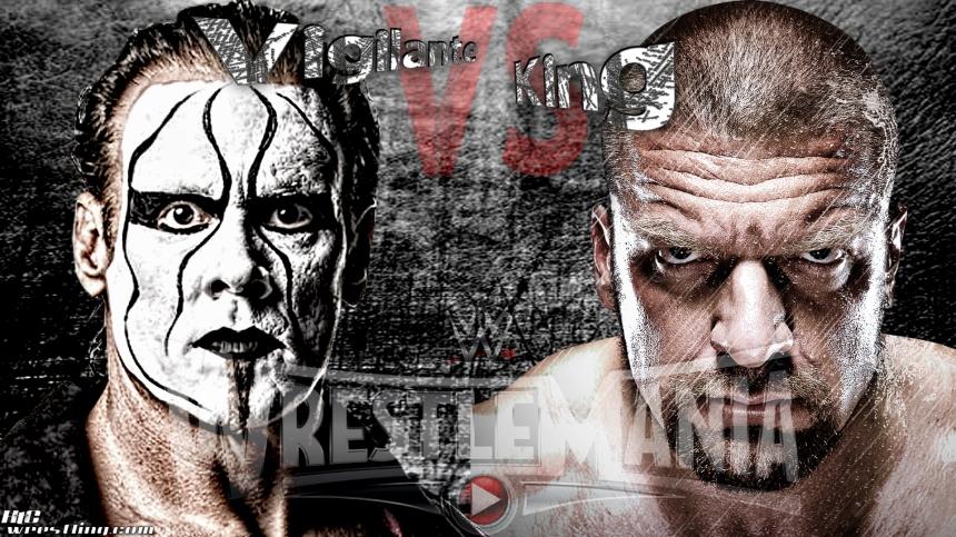 Sting vs Triple H - Vigilante vs King Wallpaper