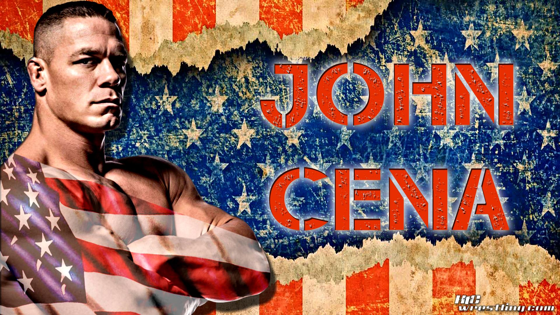 John Cena The Patriotic Champ Wallpaper Hittin The Canvas