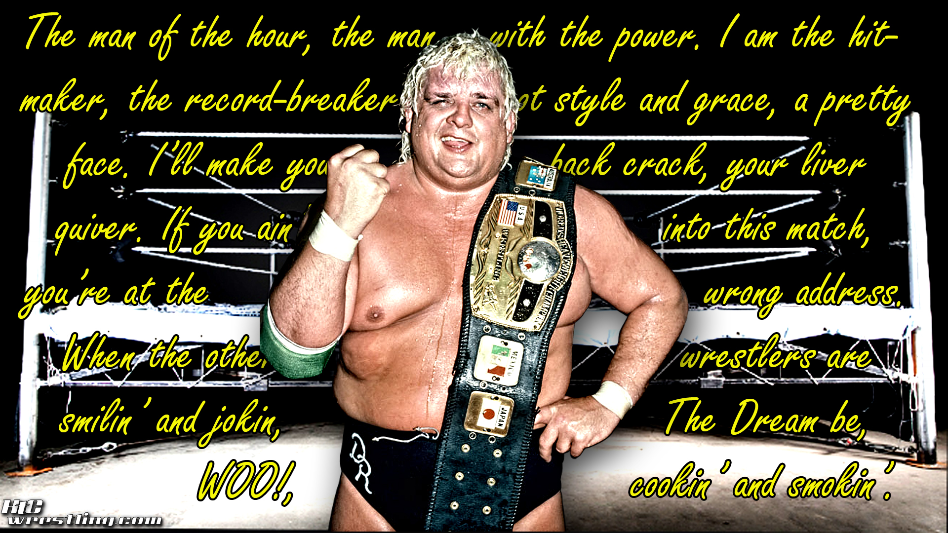 """The American Dream Quotes Dusty Rhodes """"Quote"""" Wallpaper  Hittin' The Canvas"""