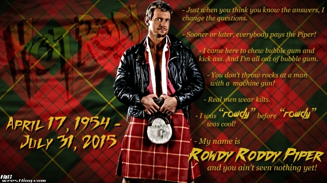 Rowdy Roddy Piper - Tribute Wallpaper