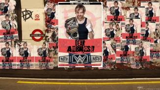 Dean Ambrose Retro Champion Poster Wallpaper